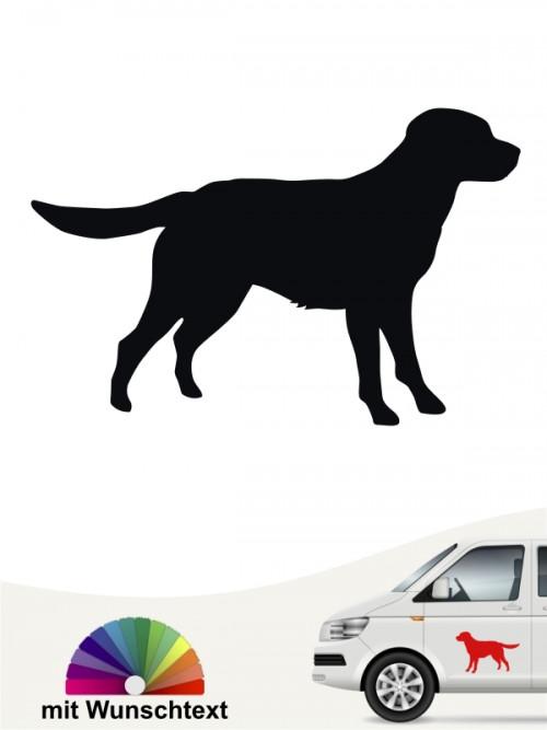 Labrador Heckscheibenaufkleber von anfalas.de