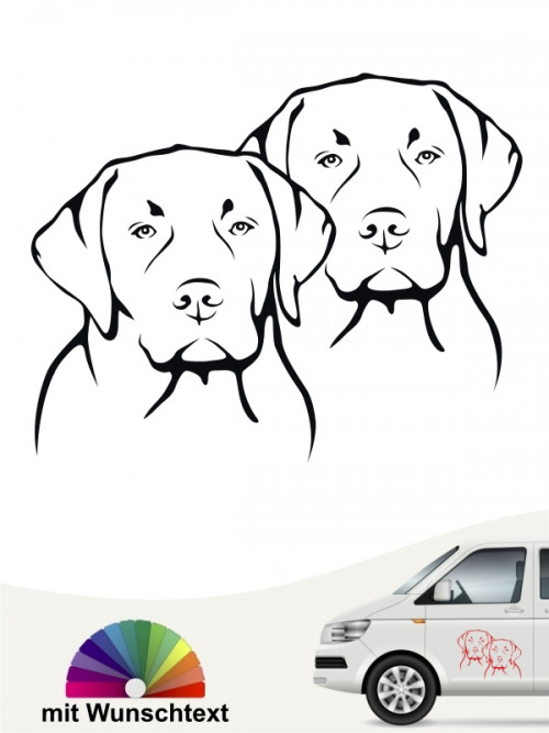 Labrador Retriever mit Wunschtext von anfalas.de