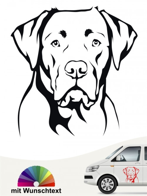 Labrador Autoaufkleber mit Wunschtext  von anfalas.de