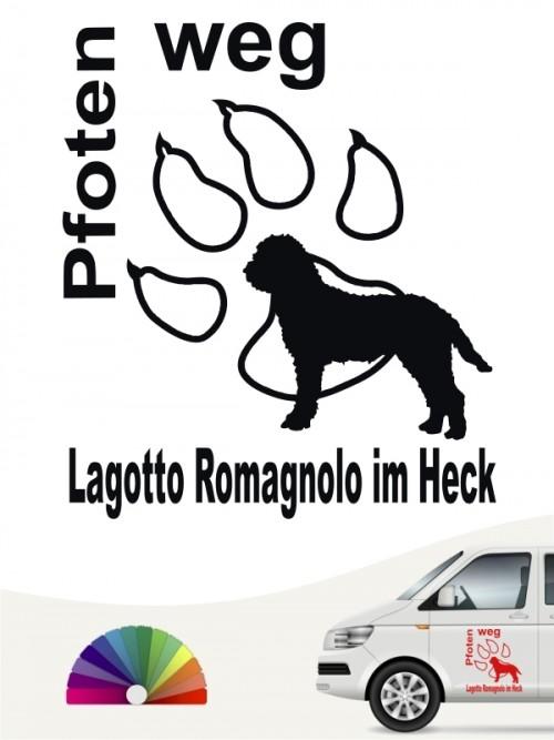 Pfoten weg Aufkleber Lagotto Romagnolo von anfalas.de