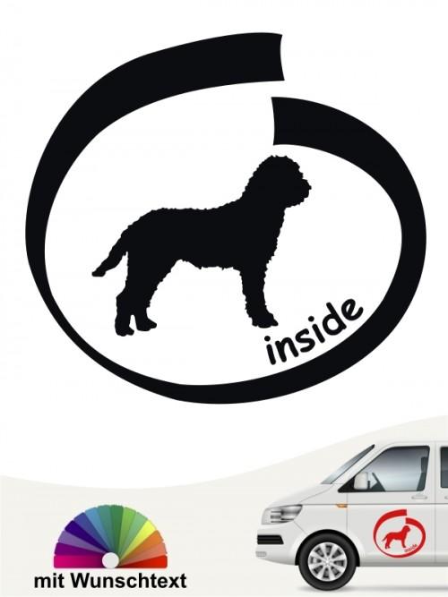 Lagotto Romagnolo inside Hundeaufkleber mit Wunschtext von anfalas.de