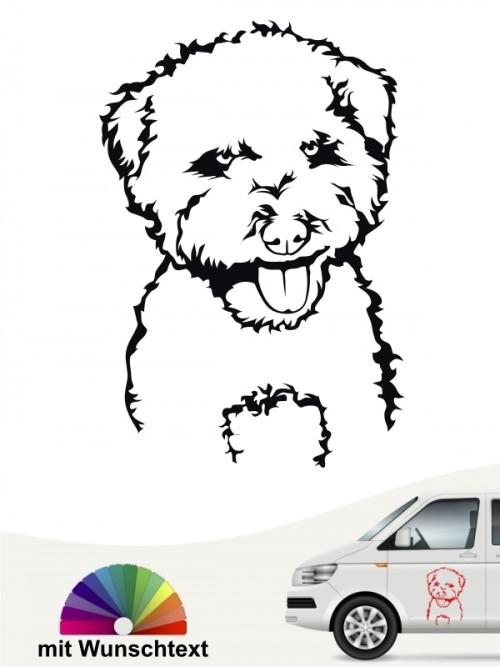 Hunde-Autoaufkleber Lagotto Romagnolo von Anfalas.de