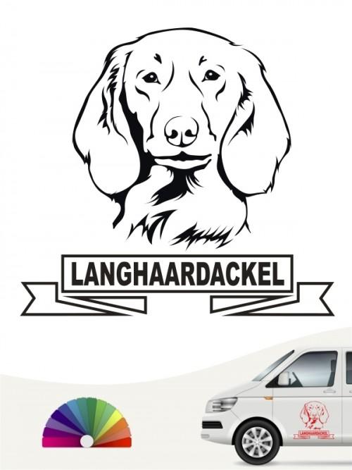Hunde-Autoaufkleber Langhaardackel 15 von Anfalas.de