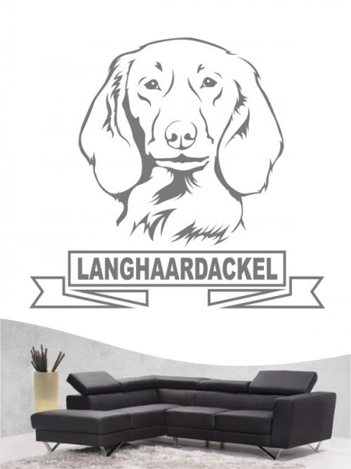 Hunde-Wandtattoo Langhaardackel 15 von Anfalas.de