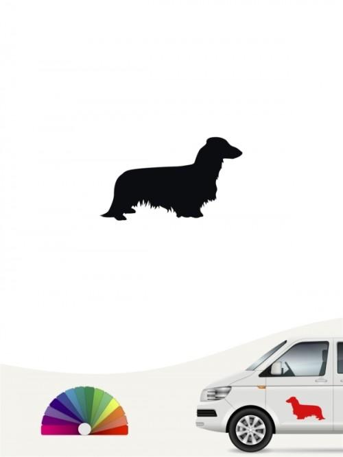Hunde-Autoaufkleber Langhaardackel 1 Mini von Anfalas.de