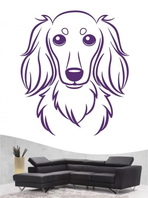 Hunde-Wandtattoo Langhaardackel Comic von Anfalas.de