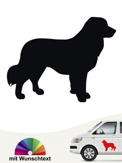 Silhouetten Autoaufkleber Leonberger mit Wunschtext von anfalas.de