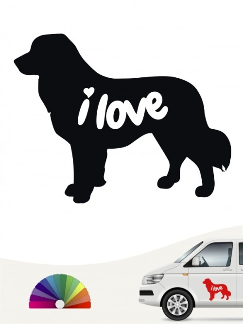 Leonberger i love Aufkleber von anfalas.de
