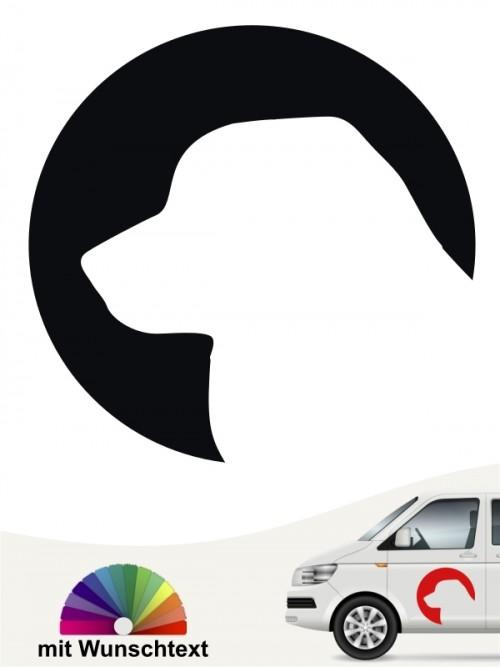 Leonberger Aufkleber mit Wunschtext von anfalas.de