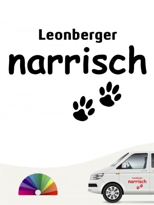 Hunde-Autoaufkleber Leonberger narrisch von Anfalas.de