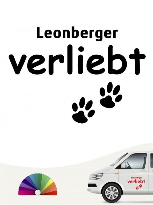 Hunde-Autoaufkleber Leonberger verliebt von Anfalas.de