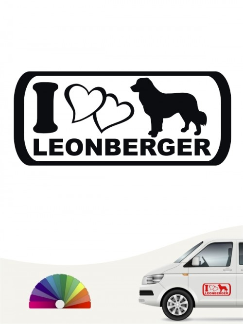 I Love Autoaufkleber Leonberger von anfalas.de