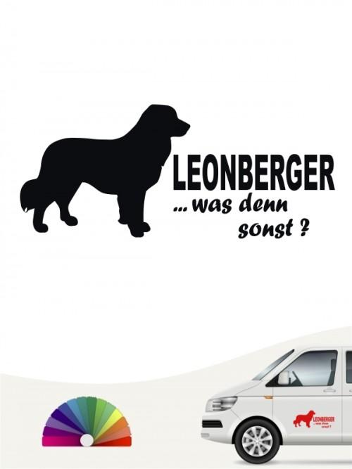 Leonberger was denn sonst Heckscheibenaufkleber von anfalas.de