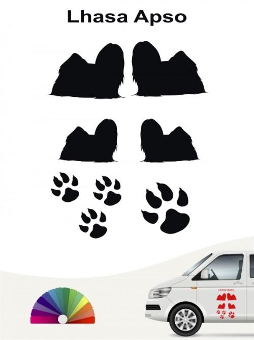 Hunde-Autoaufkleber Lhasa Apso 12 von Anfalas.de