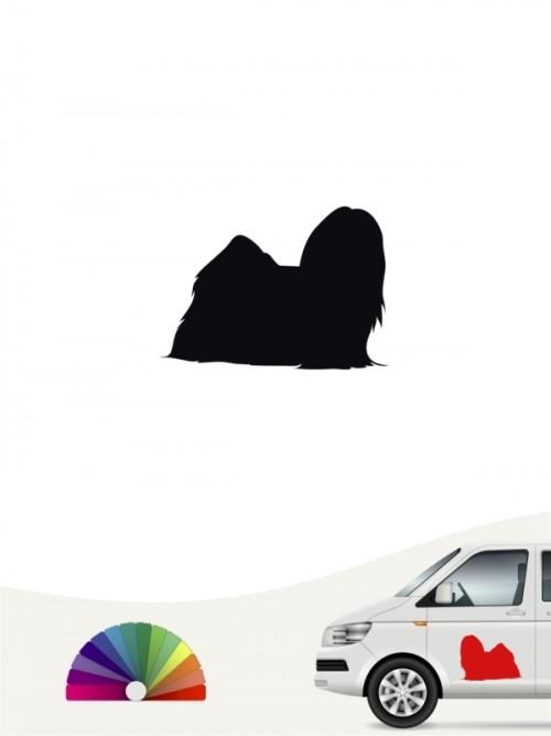 Hunde-Autoaufkleber Lhasa Apso 1 Mini von Anfalas.de