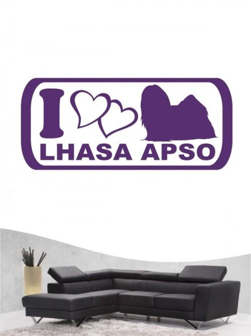 Lhasa Apso 6 - Wandtattoo