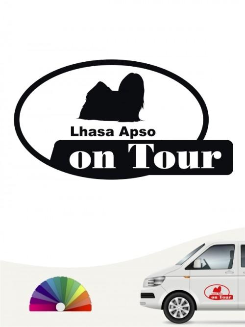 Lhasa Apso on Tour Aufkleber von anfalas.de