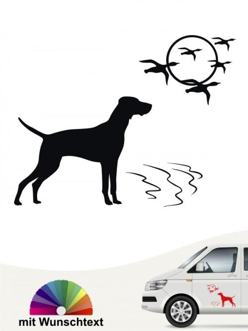 Hunde-Autoaufkleber Magyar Vizsla 10 von Anfalas.de