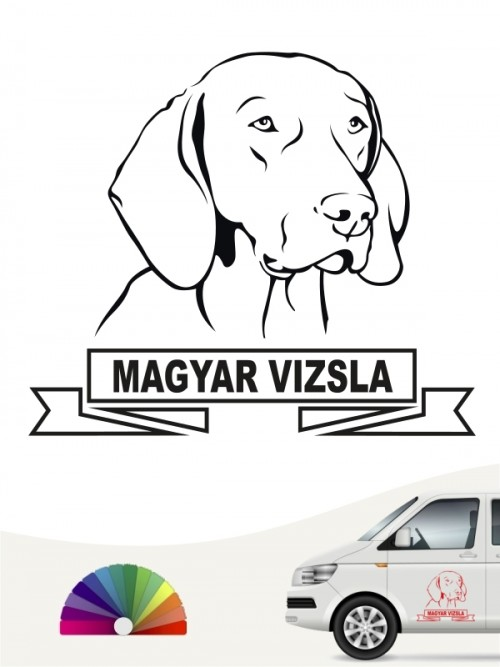 Hunde-Autoaufkleber Magyar Vizsla 15 von Anfalas.de