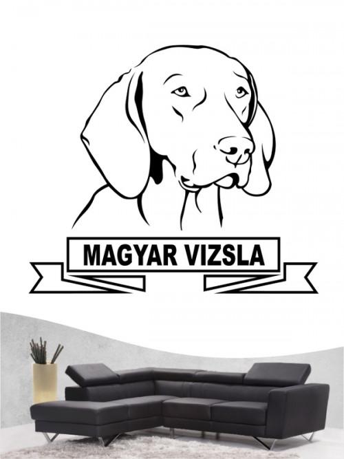 Hunde-Wandtattoo Magyar Vizsla 15 von Anfalas.de
