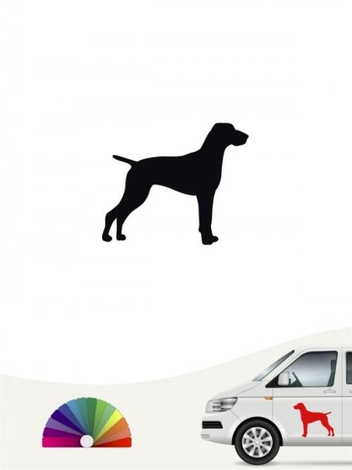 Hunde-Autoaufkleber Magyar Vizsla 1b Mini von Anfalas.de