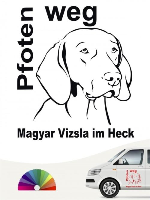 Pfoten weg Aufkleber Magyar Vizsla von anfalas.de