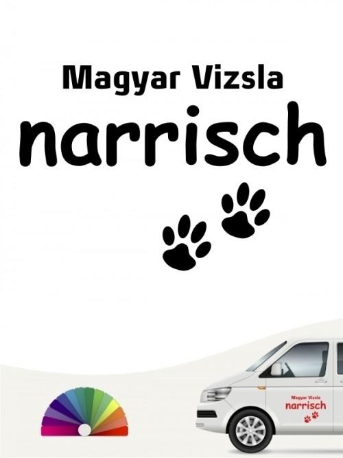 Hunde-Autoaufkleber Magyar Vizsla narrisch von Anfalas.de