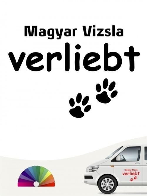 Hunde-Autoaufkleber Magyar Vizsla verliebt von Anfalas.de