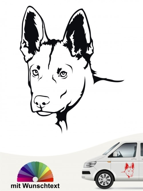 Malinois Hundeaufkleber von anfalas.de