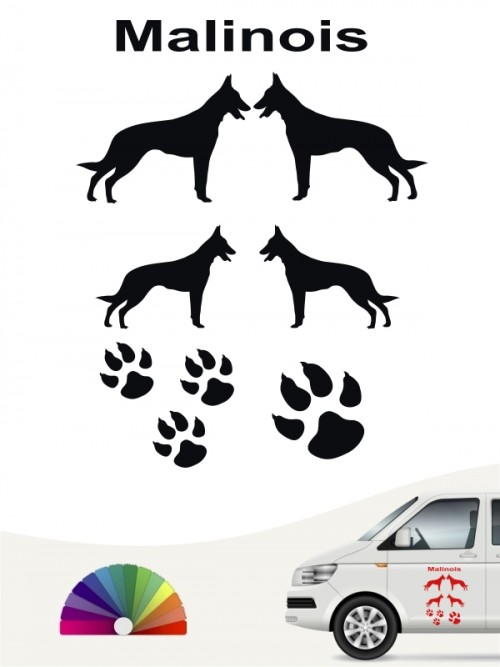 Hunde-Autoaufkleber Malinois 12 von Anfalas.de