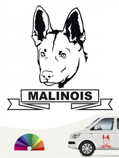 Hunde-Autoaufkleber Malinois 15 von Anfalas.de