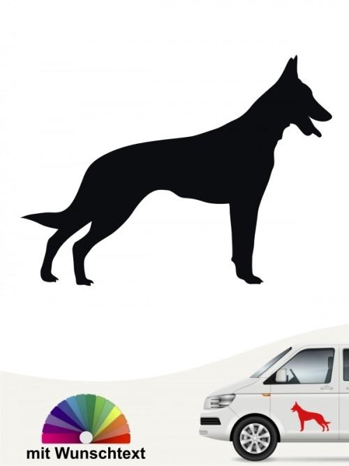Malinois Hundeaufkleber mit Wunschtext von anfalas.de