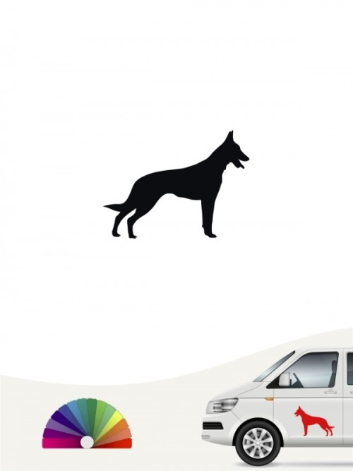 Hunde-Autoaufkleber Malinois 1 Mini von Anfalas.de