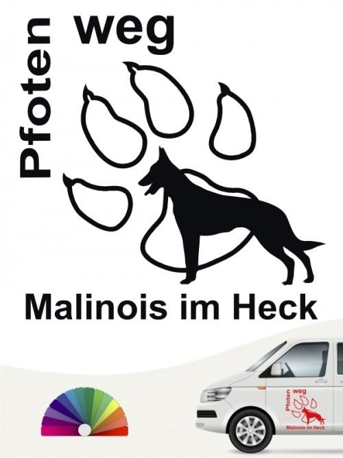 Malinois Pfoten weg Aufkleber von anfalas.de