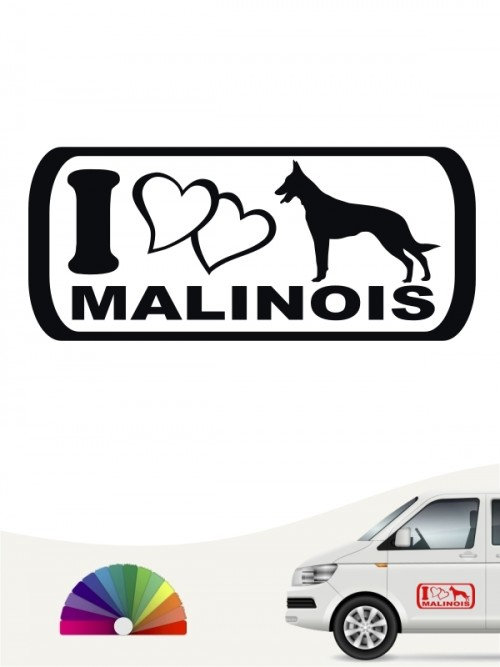 I Love Malinois Heckscheibenaufkleber von anfalas.de