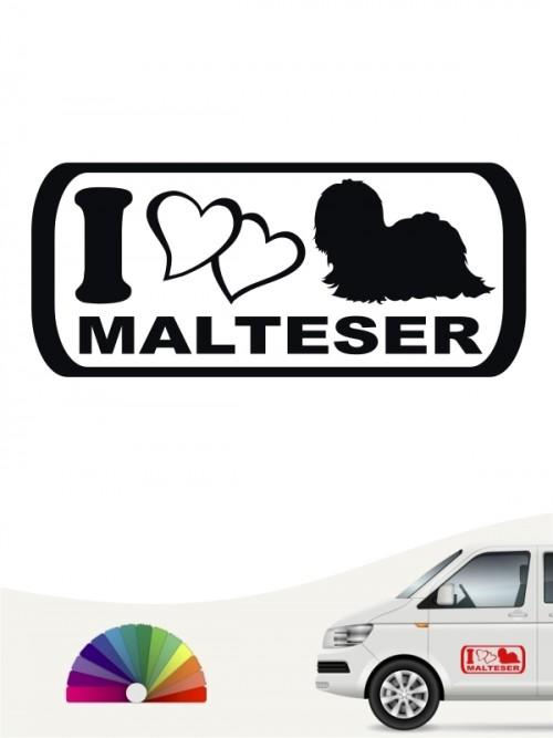I Love Malteser Heckscheibensticker von anfalas.de