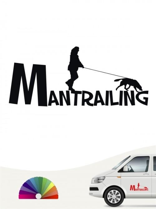Mantrailing Team Heckscheibenaufkleber mit Wunschtext von anfalas.de