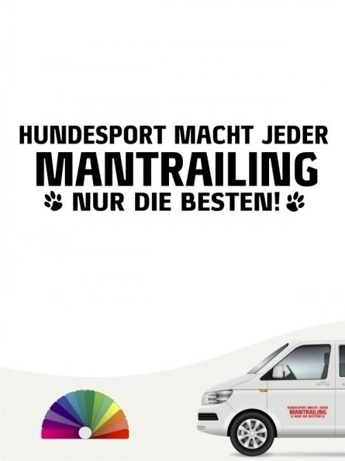 Hunde-Autoaufkleber Mantrailing nur die Besten von Anfalas.de