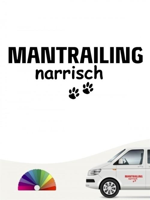 Hunde-Autoaufkleber Mantrailing narrisch von Anfalas.de