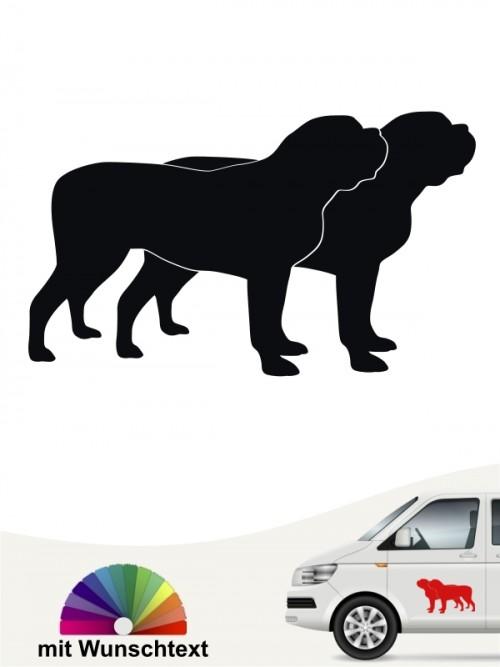 Mastiff doppel Silhouette Sticker von anfalas.de