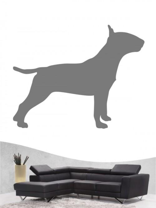 Miniature Bullterrier 1 Hunde-Wandtattoo von Anfalas.de