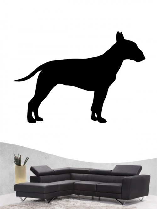 Miniature Bullterrier 1a Hunde-Wandtattoo von Anfalas.de