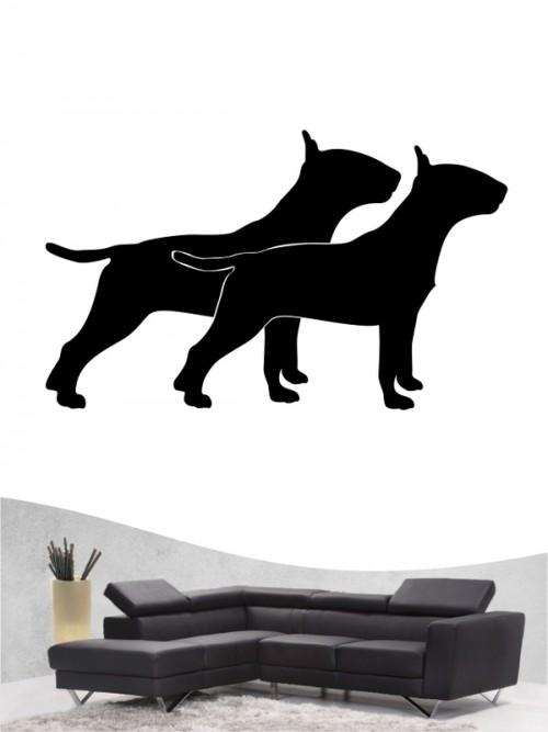 Miniature Bullterrier 2 Hunde-Wandtattoo von Anfalas.de