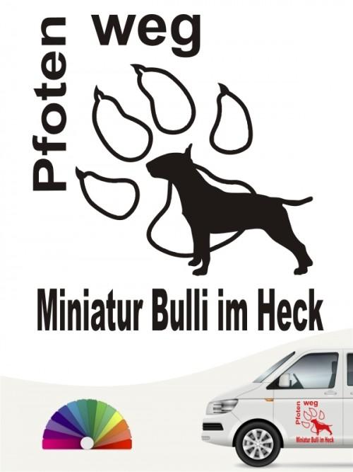 Miniatur Bulli Pfoten weg Aufkleber von anfalas.de