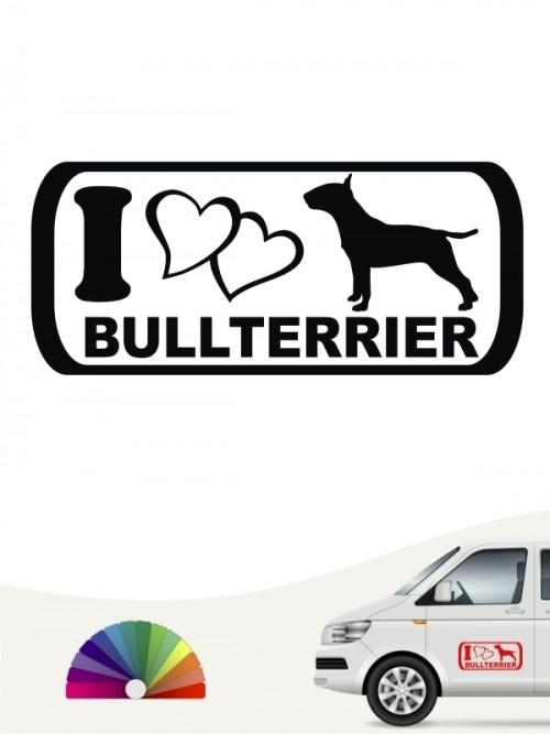 I Love Bullterrier Autosticker von anfalas.de