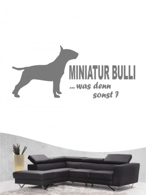 Miniature Bullterrier 7 - Wandtattoo