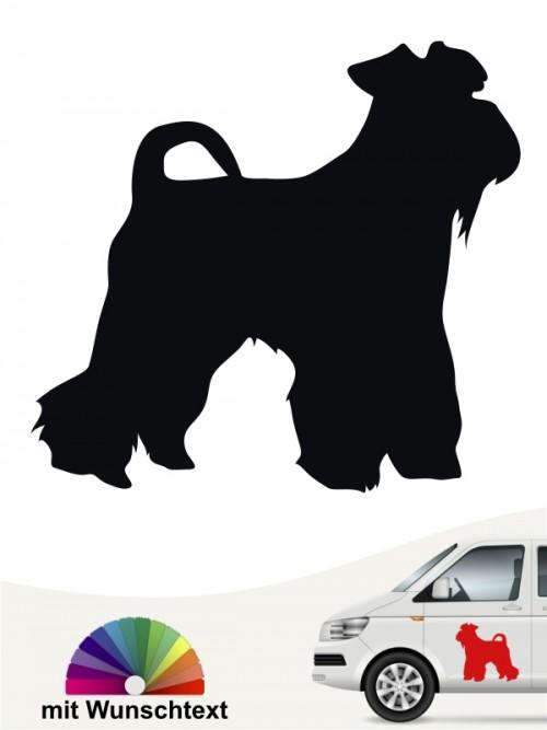 Hunde-Autoaufkleber Mittelschnauzer 1 von Anfalas.de