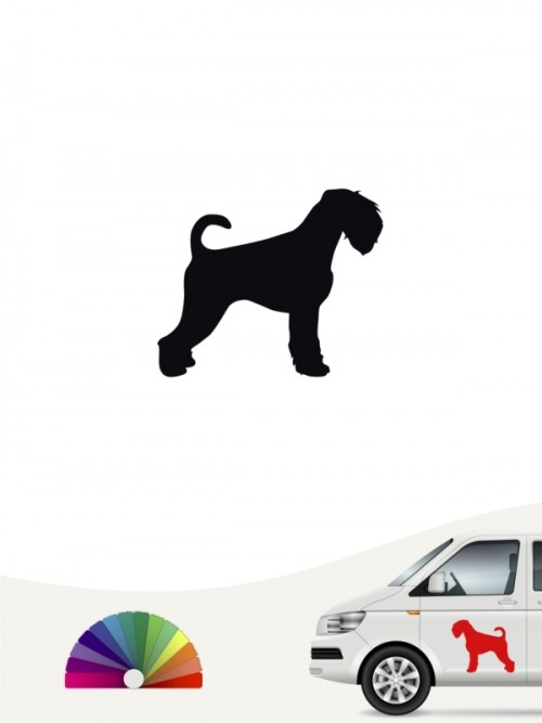 Hunde-Autoaufkleber Mittelschnauzer 1a Mini von Anfalas.de