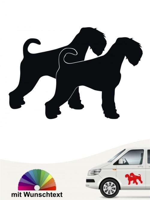 Schnauzer doppel Silhouette Sticker von anfalas.de