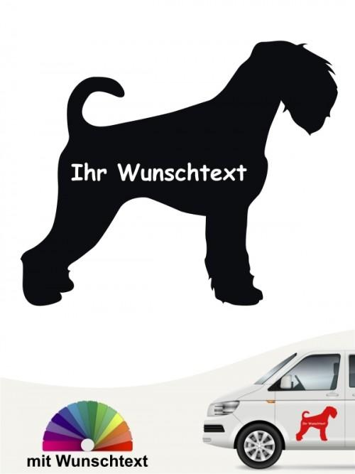 Schnauzer Silhouette Autosticker mit Wunschname von anfalas.de